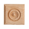 "#912 Red Oak Rosette Corner Block 1-1/16"" x 4-1/4"" x 4-1/4"""